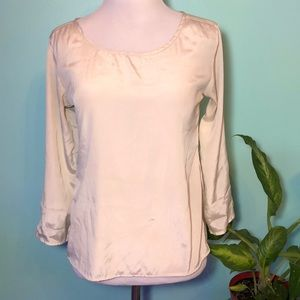 Ivory 3/4 sleeves shirt size S